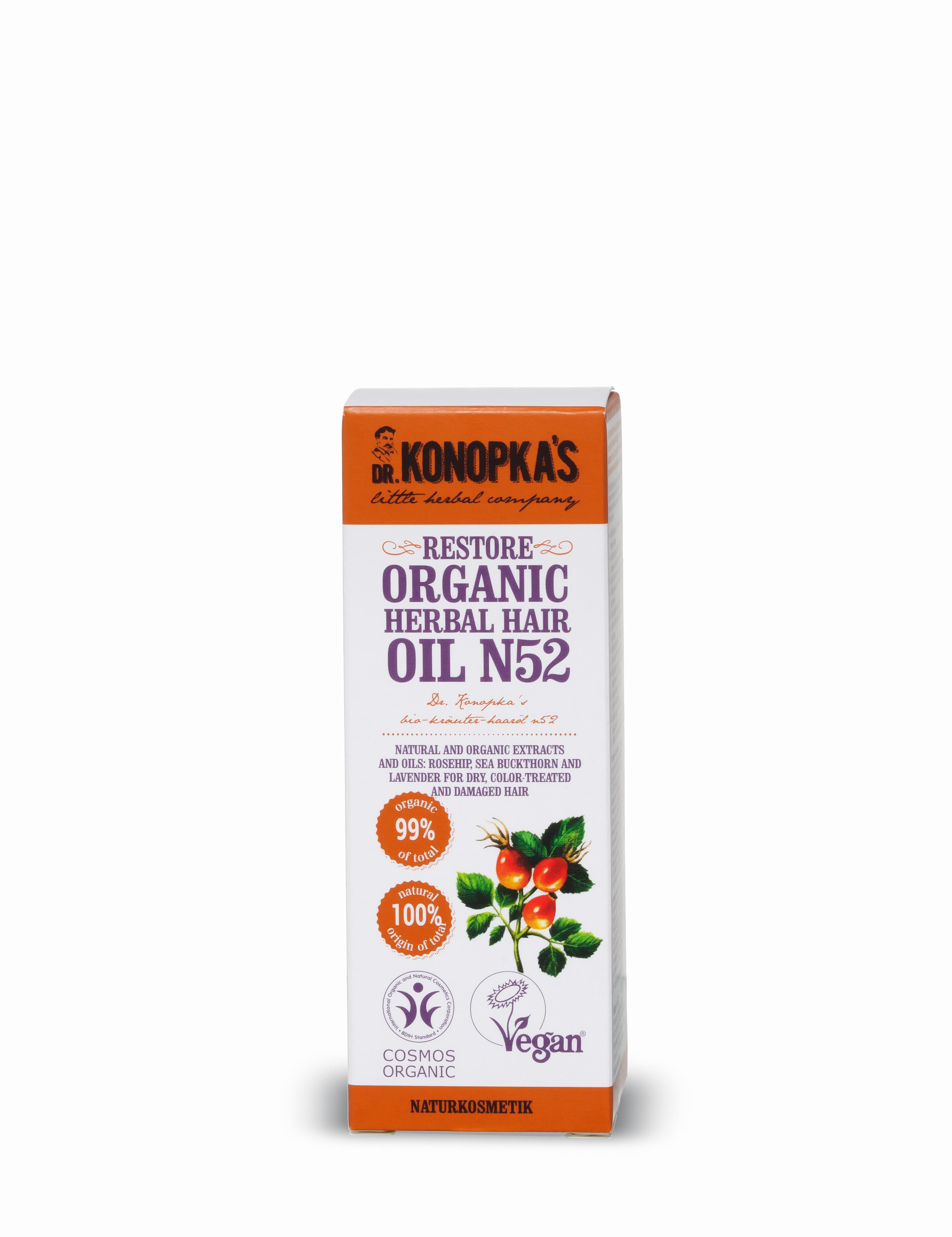 Aceite Restaurador Orgánico de Hierbas para el cabello nº 52, 30 ml Image